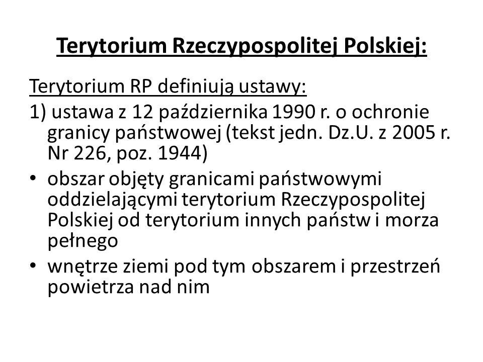 Terytorium Rzeczypospolitej Polskiej – c.d.2) ustawa z 21 marca 1991 r.