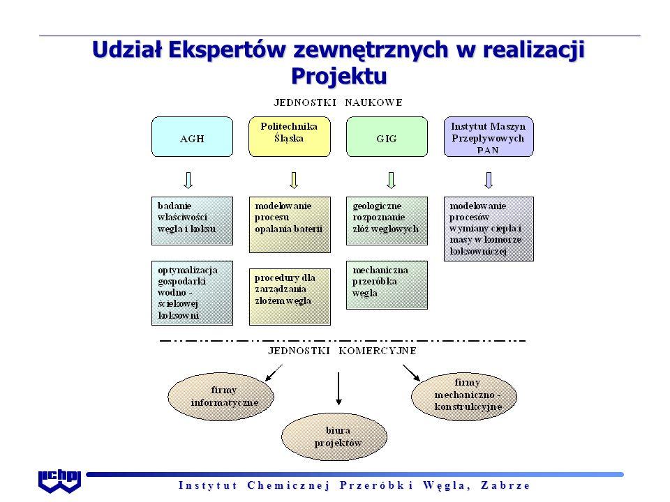 I n s t y t u t C h e m i c z n e j P r z e r ó b k i W ę g l a, Z a b r z e Udział Ekspertów zewnętrznych w realizacji Projektu