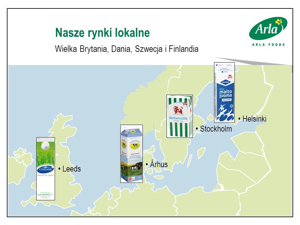 Nasze rynki lokalne Wielka Brytania, Dania, Szwecja i Finlandia Leeds Århus Stockholm Helsinki