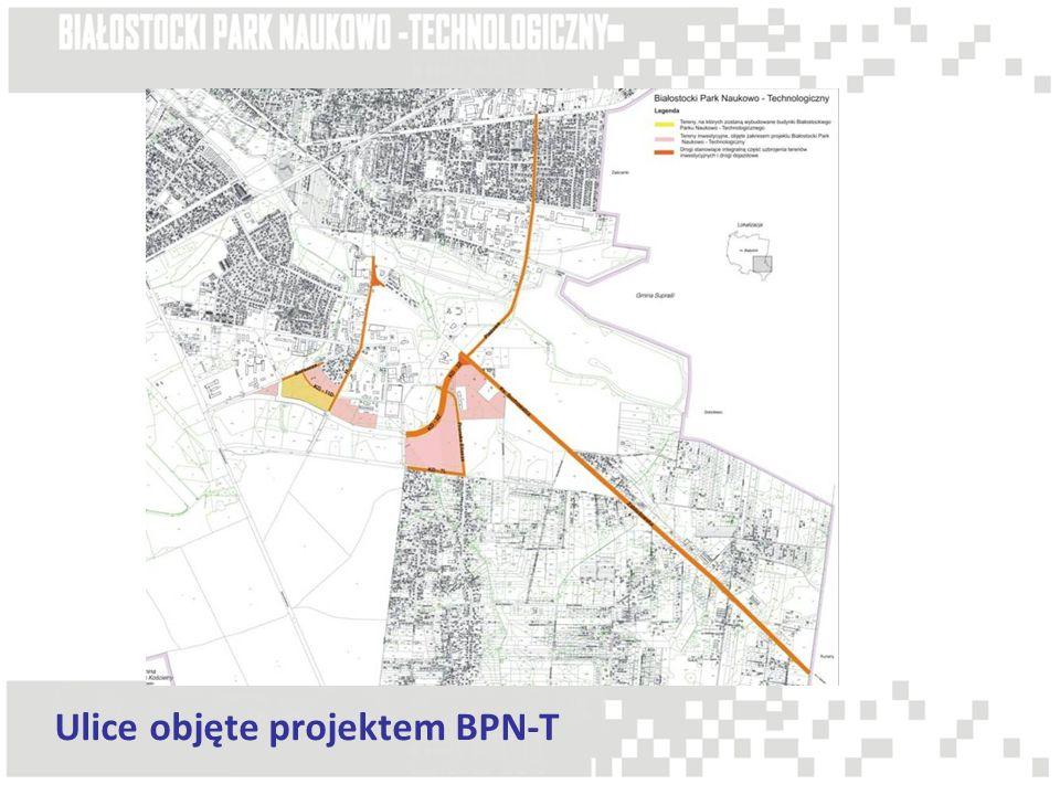 Ulice objęte projektem BPN-T