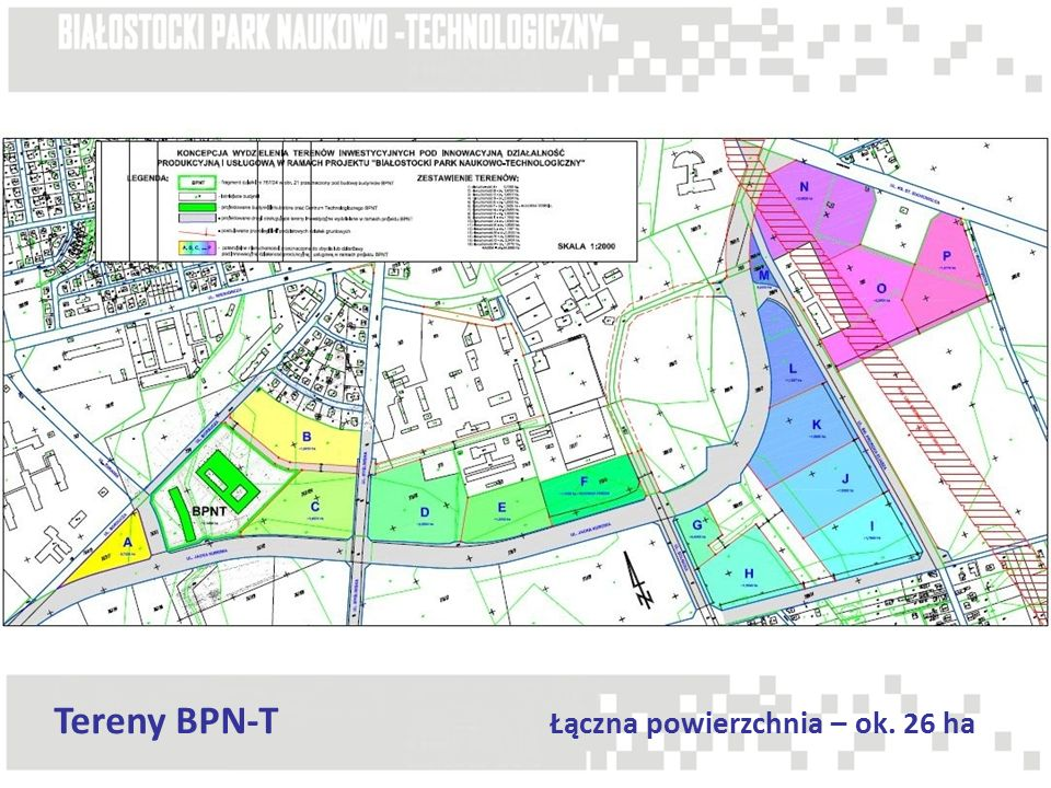 Tereny BPN-T Łączna powierzchnia – ok. 26 ha
