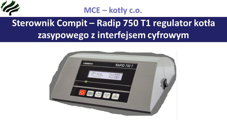Sterownik Compit – Radip 750 T1 regulator kotła zasypowego z interfejsem cyfrowym MCE – kotły c.o.