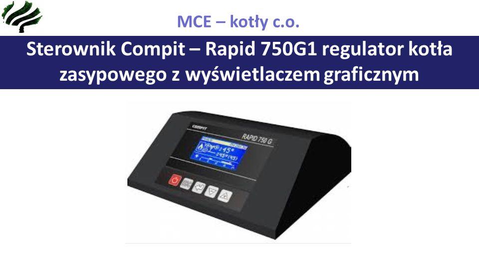 Sterownik Compit – Rapid 750G1 regulator kotła zasypowego z wyświetlaczem graficznym MCE – kotły c.o.