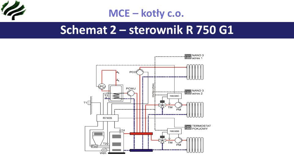 ZAKRES DZIAŁALNOŚCI FIRMY MCE SCHEMAT POŁĄCZEŃ ELEKTRYCZNYCH R 750 G1 Schemat 2 – sterownik R 750 G1