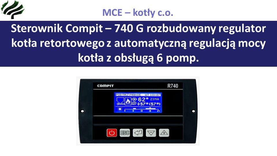 Sterownik Compit – 740 G rozbudowany regulator kotła retortowego z automatyczną regulacją mocy kotła z obsługą 6 pomp.