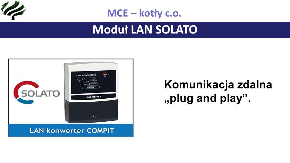 "Moduł LAN SOLATO MCE – kotły c.o. Komunikacja zdalna ""plug and play ."