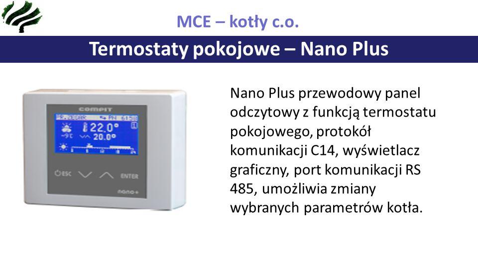Termostaty pokojowe – Nano Plus MCE – kotły c.o.