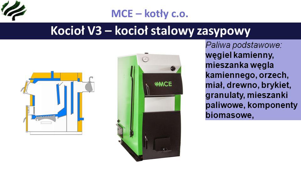 Kocioł V3 – kocioł stalowy zasypowy MCE – kotły c.o.