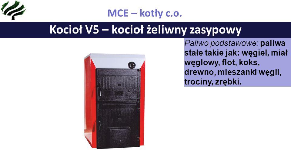Kocioł V5 – kocioł żeliwny zasypowy MCE – kotły c.o.