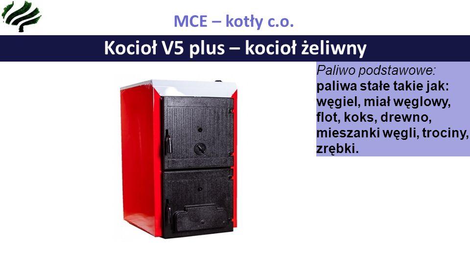 Kocioł V2 duo – kocioł stalowy z podajnikiem MCE – kotły c.o.