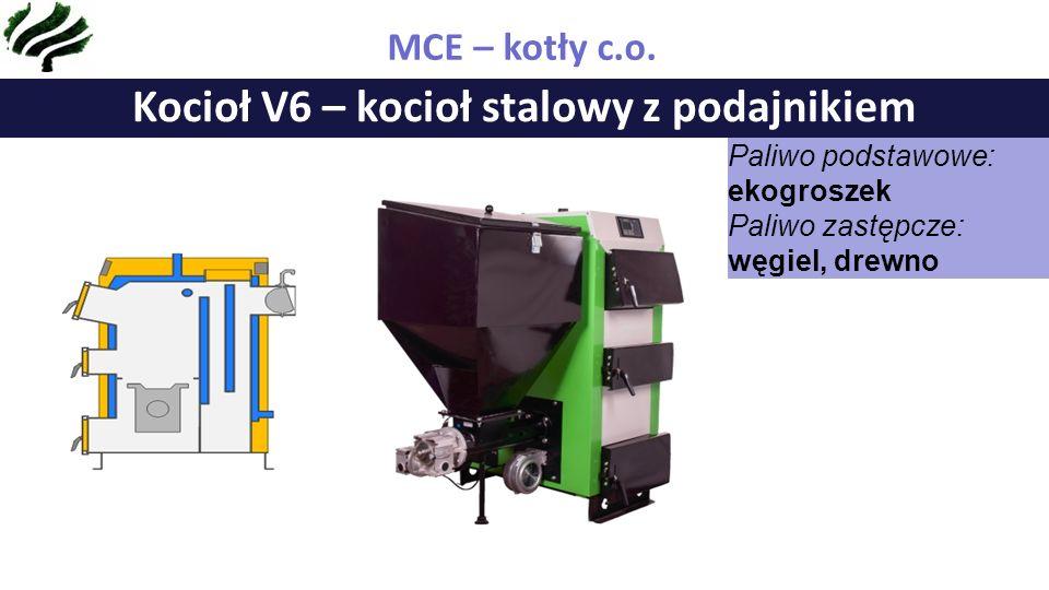 Kocioł V7 – kocioł stalowy z podajnikiem MCE – kotły c.o.