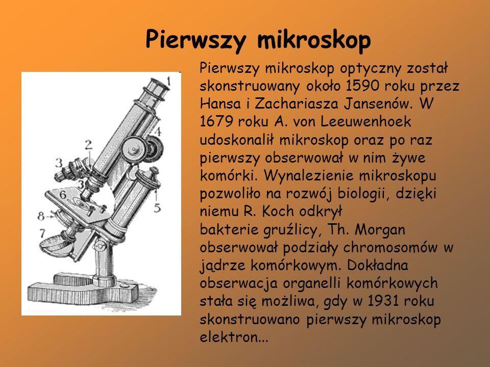Pierwszy mikroskop optyczny został skonstruowany około 1590 roku przez Hansa i Zachariasza Jansenów. W 1679 roku A. von Leeuwenhoek udoskonalił mikros