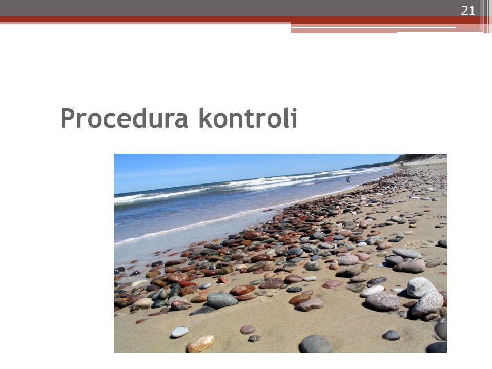 Procedura kontroli 21