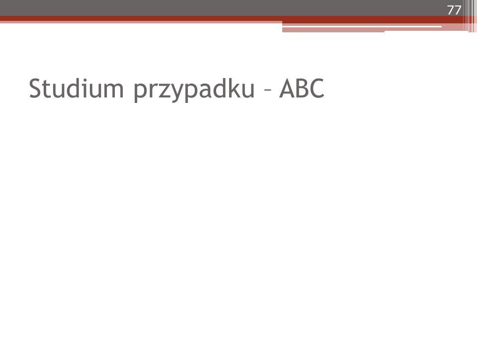 Studium przypadku – ABC 77