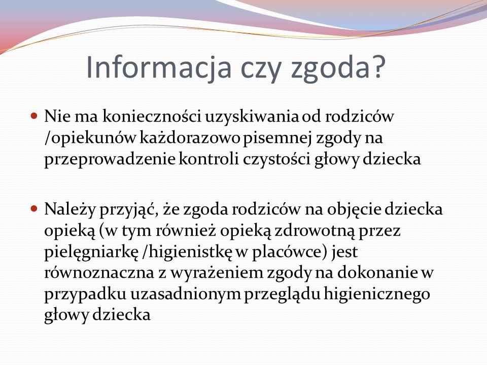 Informacja czy zgoda.