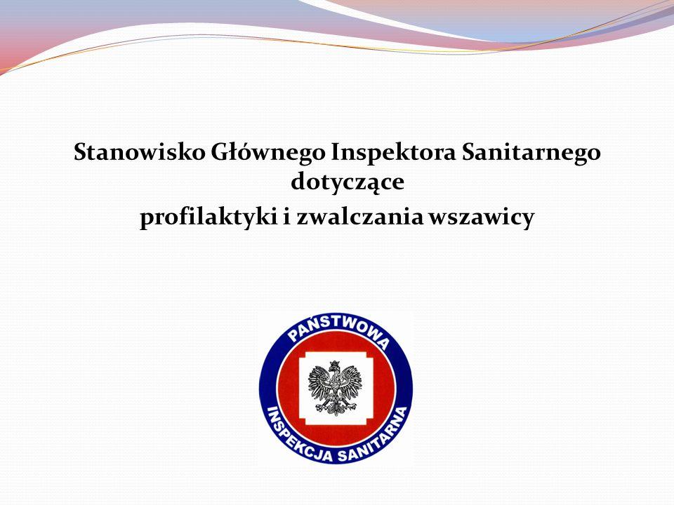 Stanowisko Głównego Inspektora Sanitarnego dotyczące profilaktyki i zwalczania wszawicy