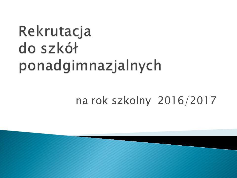 na rok szkolny 2016/2017