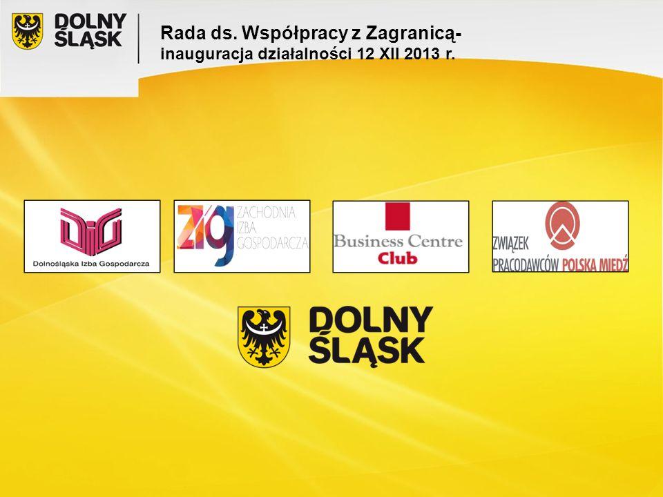 Rada ds. Współpracy z Zagranicą- inauguracja działalności 12 XII 2013 r.