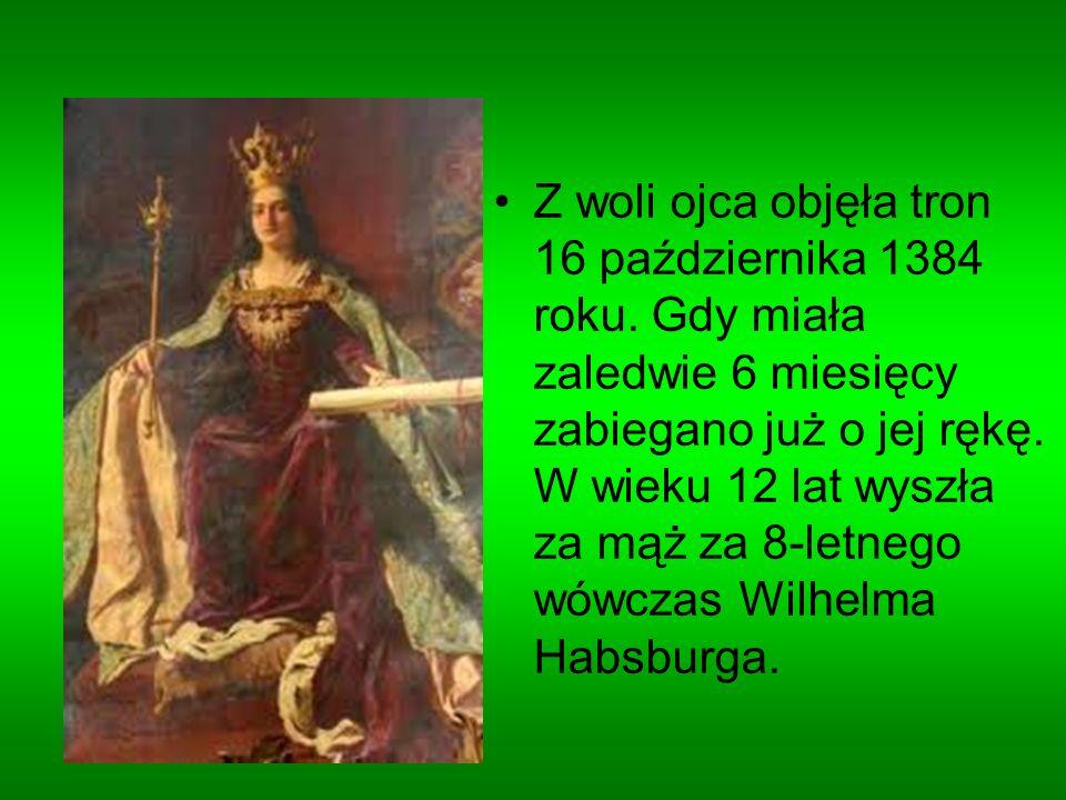 Z woli ojca objęła tron 16 października 1384 roku. Gdy miała zaledwie 6 miesięcy zabiegano już o jej rękę. W wieku 12 lat wyszła za mąż za 8-letnego w