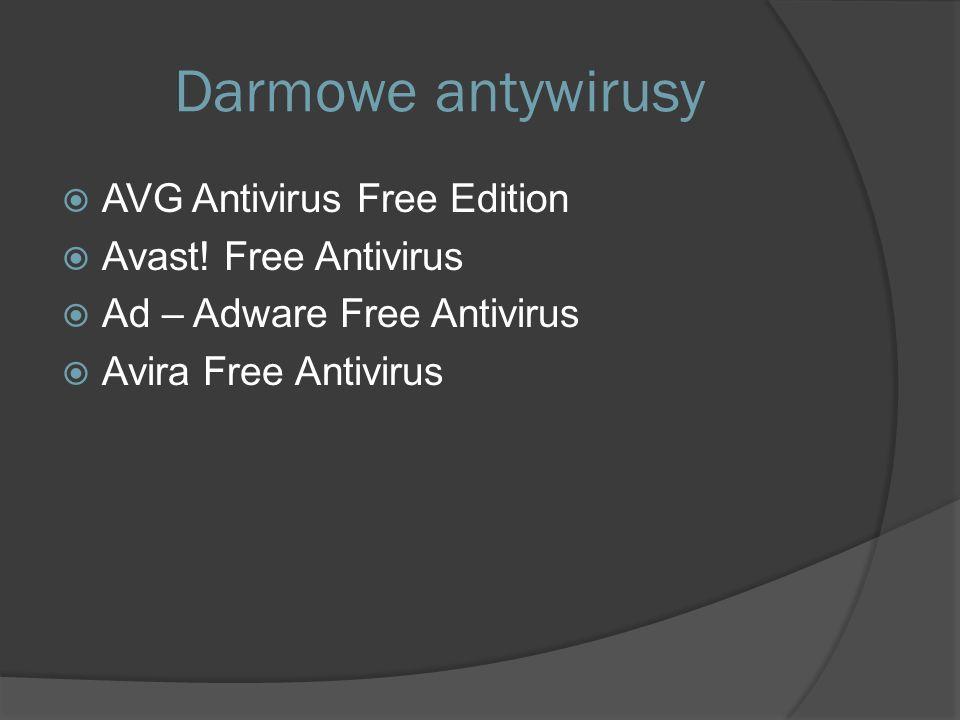 Darmowe antywirusy  AVG Antivirus Free Edition  Avast.