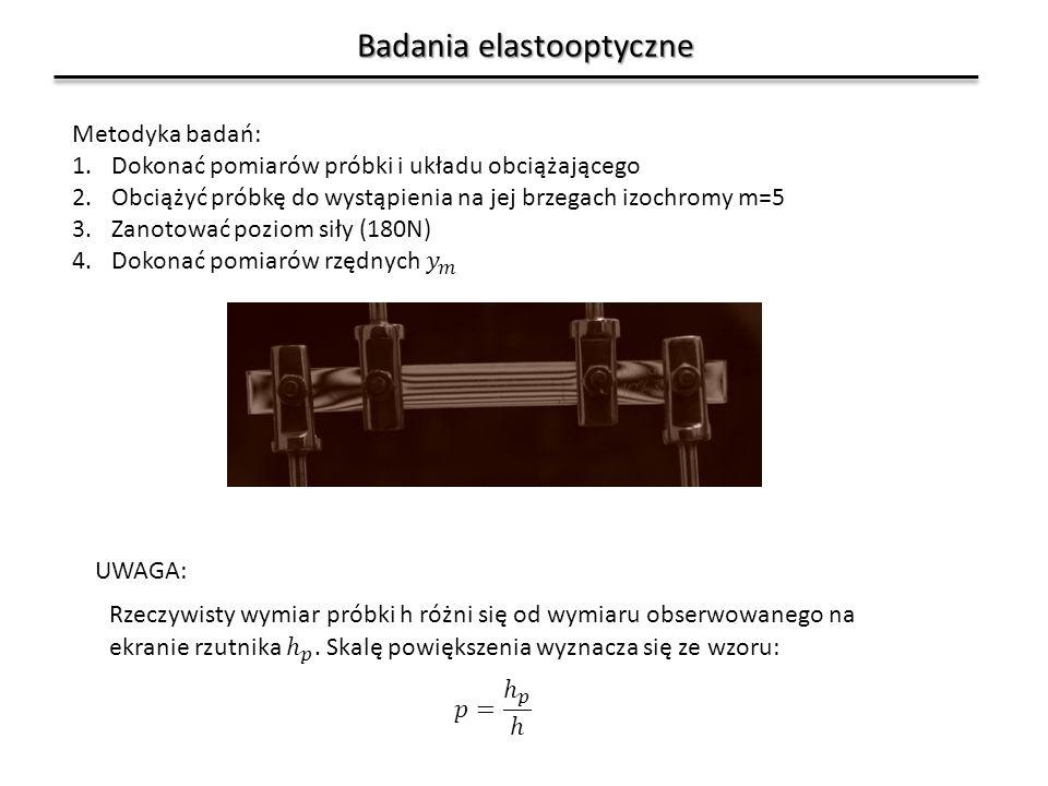 Badania elastooptyczne UWAGA: