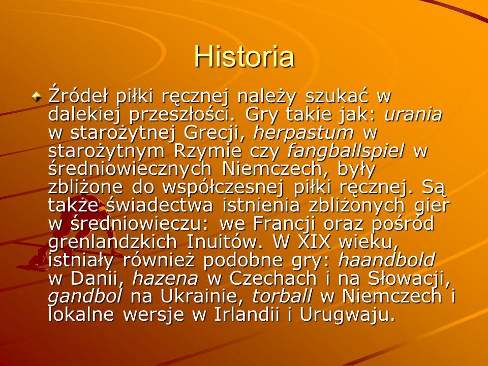 Historia Źródeł piłki ręcznej należy szukać w dalekiej przeszłości.