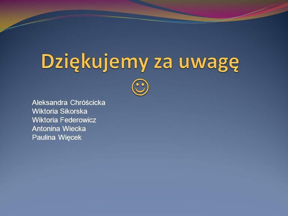 Aleksandra Chróścicka Wiktoria Sikorska Wiktoria Federowicz Antonina Wiecka Paulina Więcek