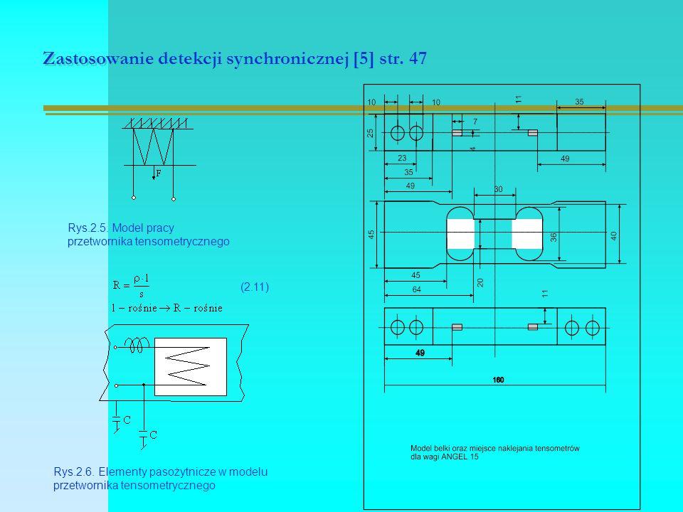 Zastosowanie detekcji synchronicznej [5] str. 47 Rys.2.5.