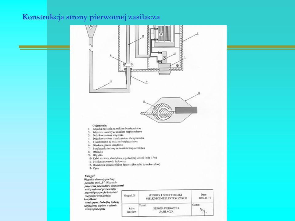 Konstrukcja strony pierwotnej zasilacza