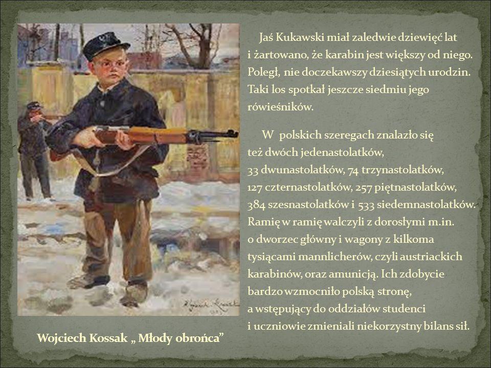 Jaś Kukawski miał zaledwie dziewięć lat i żartowano, że karabin jest większy od niego.