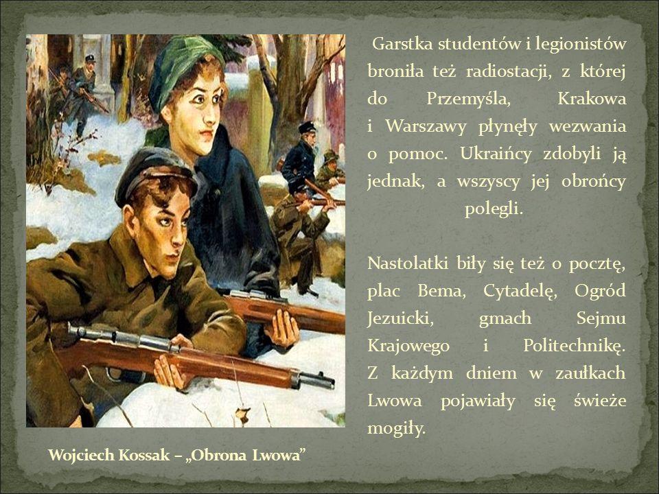 Garstka studentów i legionistów broniła też radiostacji, z której do Przemyśla, Krakowa i Warszawy płynęły wezwania o pomoc.