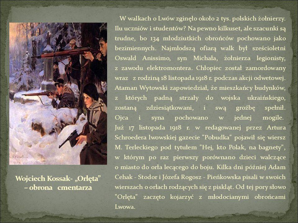 W walkach o Lwów zginęło około 2 tys. polskich żołnierzy.