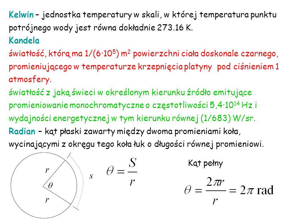 Kelwin – jednostka temperatury w skali, w której temperatura punktu potrójnego wody jest równa dokładnie 273.16 K.