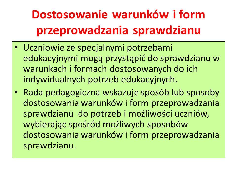 Uczniowie o specyficznych trudnościach w uczeniu się (dyslekcja, dysgrafia, dysortografia, dyskalkulia).