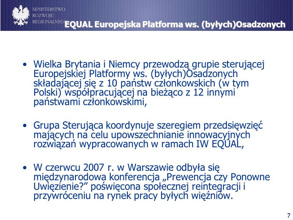 7 EQUAL Europejska Platforma ws. (byłych)Osadzonych Wielka Brytania i Niemcy przewodzą grupie sterującej Europejskiej Platformy ws. (byłych)Osadzonych