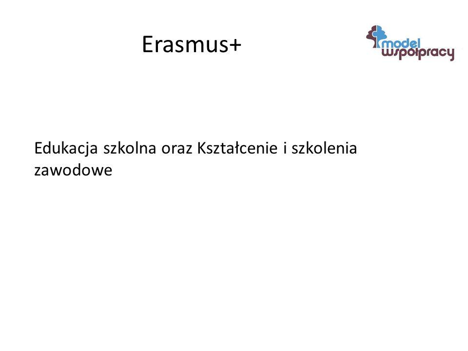 Erasmus+ Edukacja szkolna oraz Kształcenie i szkolenia zawodowe