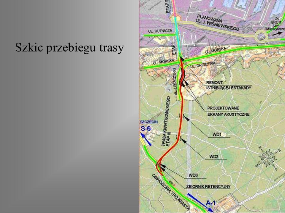 Trasa Kwiatkowskiego w Gdyni Zakres budowy – połączenie istniejącej Estakady z Obwodową Trójmiasta Rozpoczęcie ostatniego etapu budowy trasy - 21 sier