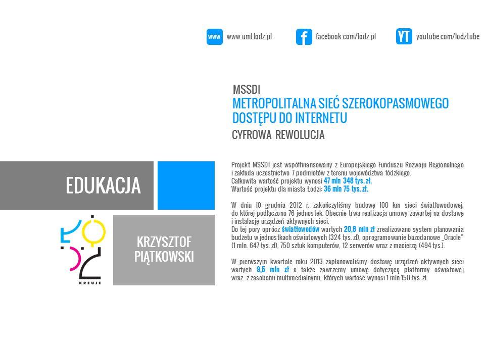 EDUKACJA KRZYSZTOF PIĄTKOWSKI Projekt w ramach Programu Operacyjnego Innowacyjna Gospodarka ma na celu przeciwdziałanie wykluczeniu informacyjnemu.