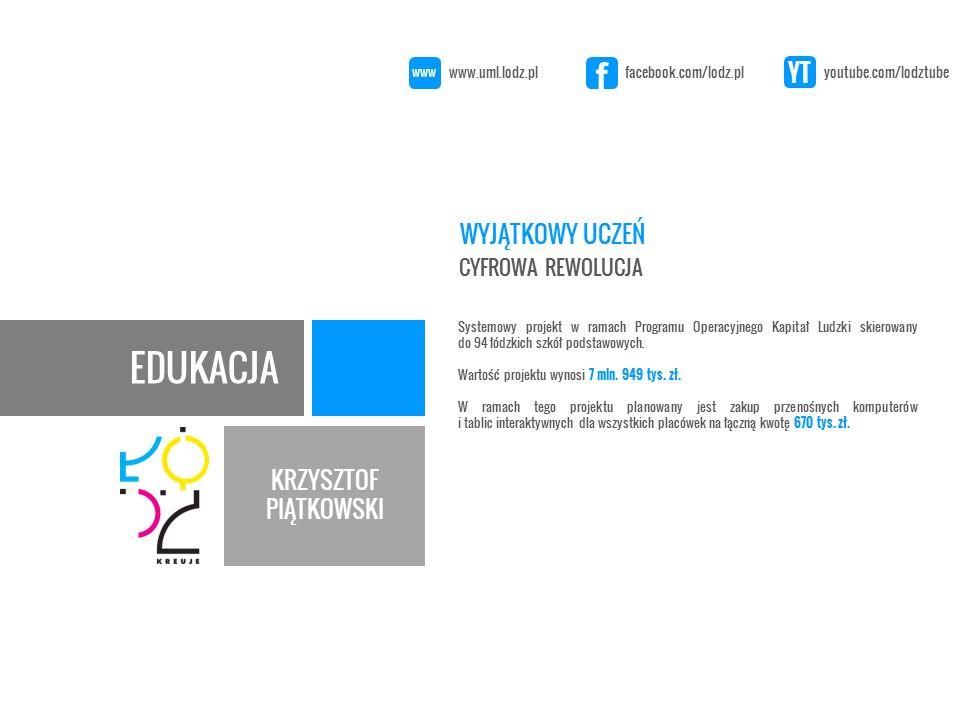 EDUKACJA KRZYSZTOF PIĄTKOWSKI Projekt ma być realizowany w ramach Regionalnego Programu Operacyjnego - E usługi publiczne.