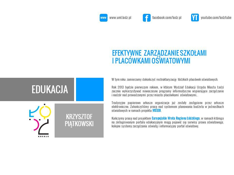 10/01/2013 DZIĘKUJĘ ZA UWAGĘ KRZYSZTOF PIĄTKOWSKI www.uml.lodz.pl facebook.com/lodz.pl youtube.com/lodztube www f YT