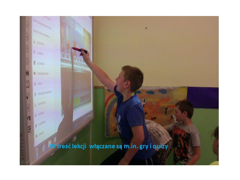 W treść lekcji włączane są m.in. gry i quizy