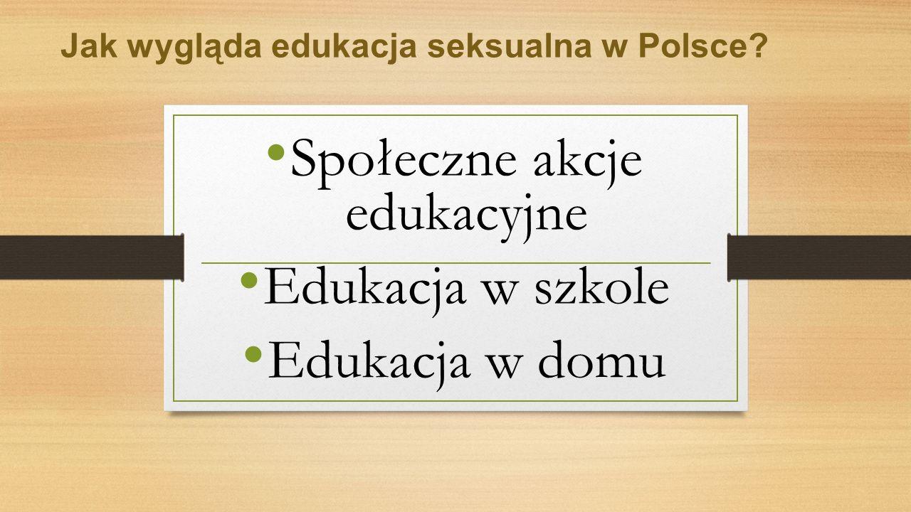 Jak wygląda edukacja seksualna w Polsce.