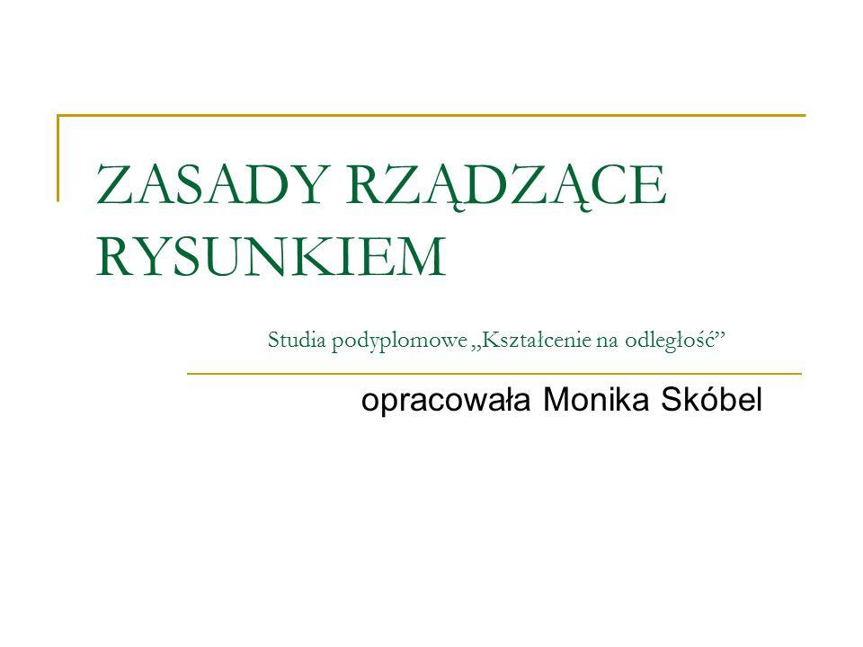 """ZASADY RZĄDZĄCE RYSUNKIEM Studia podyplomowe """"Kształcenie na odległość"""" opracowała Monika Skóbel"""