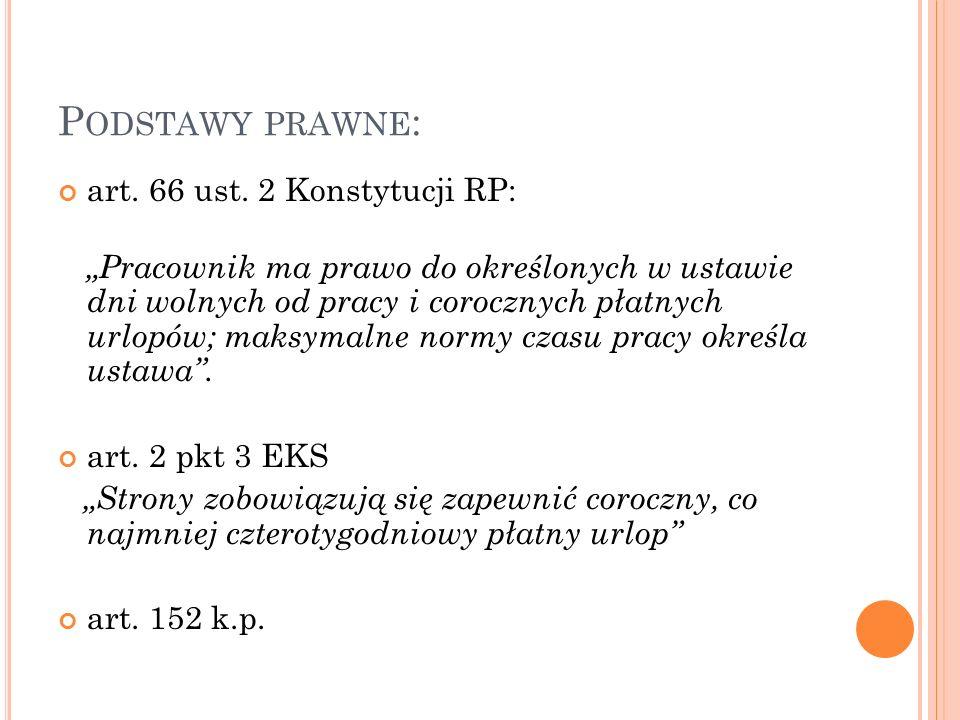P ODSTAWY PRAWNE : art. 66 ust.