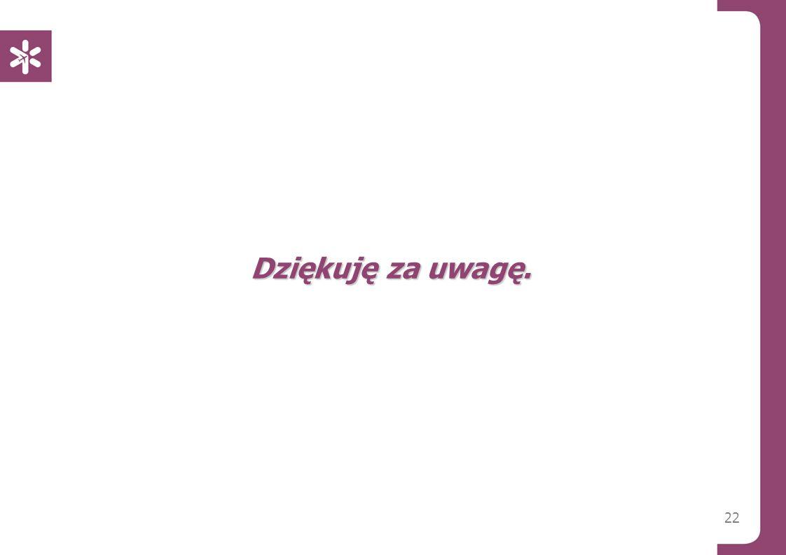 22 Dziękuję za uwagę. Warszawa, 14/01/2013