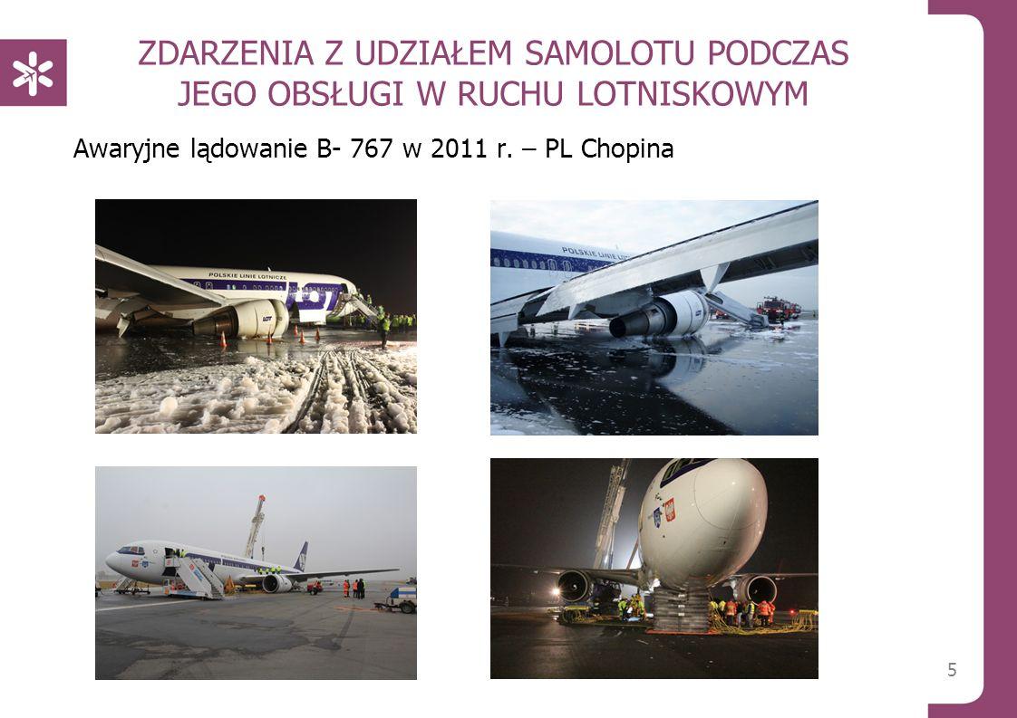 ZDARZENIA Z UDZIAŁEM SAMOLOTU PODCZAS JEGO OBSŁUGI W RUCHU LOTNISKOWYM Awaryjne lądowanie B- 767 w 2011 r. – PL Chopina 5