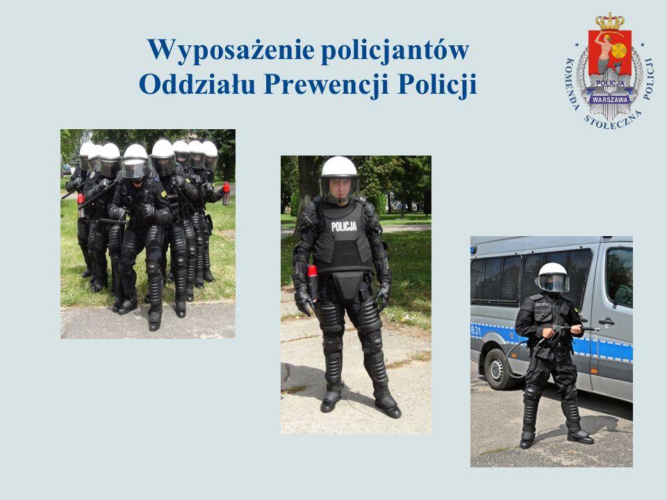 Wyposażenie policjantów Oddziału Prewencji Policji