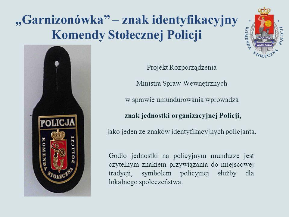 Projekt Rozporządzenia Ministra Spraw Wewnętrznych w sprawie umundurowania wprowadza znak jednostki organizacyjnej Policji, jako jeden ze znaków identyfikacyjnych policjanta.