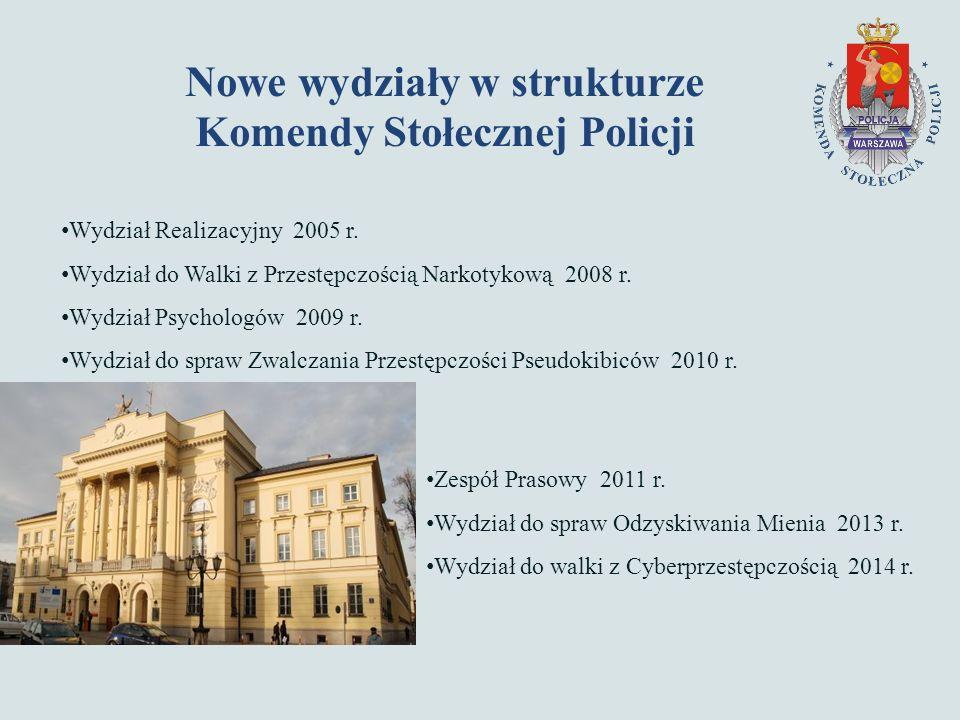 Nowe wydziały w strukturze Komendy Stołecznej Policji Wydział Realizacyjny 2005 r.