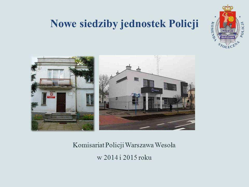 Nowe siedziby jednostek Policji Komisariat Policji Warszawa Wesoła w 2014 i 2015 roku